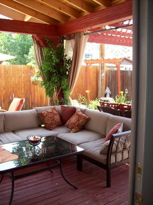 Budget Backyard ReTREAT  Love this...must do this in our backyard