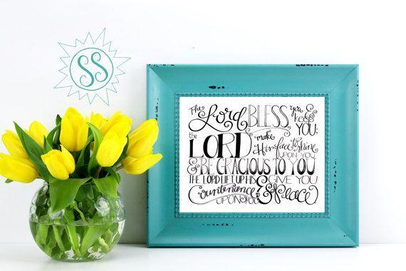 Bible Verse Wall Art / Christian Gifts for Women / by SaltySunbeam