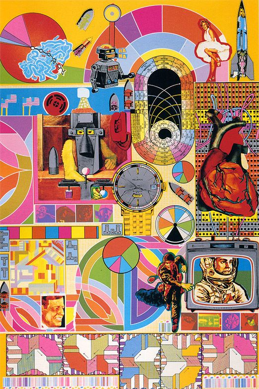 Eduardo Paolozzi - very different style to some of his other works, but I find it very busy to look at and a lot to take in