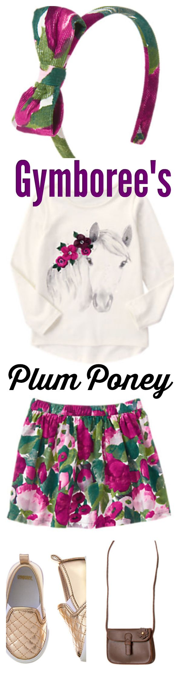 Gymboree has an adorable pony collection for your girl. Plum Pony features a cute equestrian theme with lush purple, golds, and sweet florals! She will be very stylish in Fall 2016! #ad