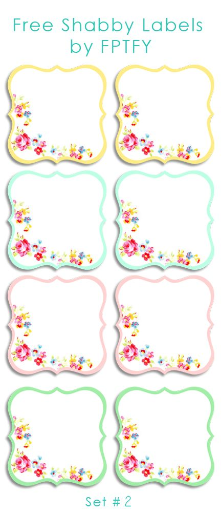 Labels: Pretty Shabby Labels Set 2 - Free Pretty Things For You