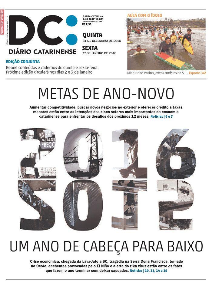 Diario Catarinense (Brazil) 12/31/15 via Newseum