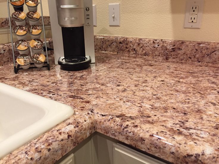 Granite Covered Countertops : Used Instant Granite to cover my old laminate countertops!! Turned out ...