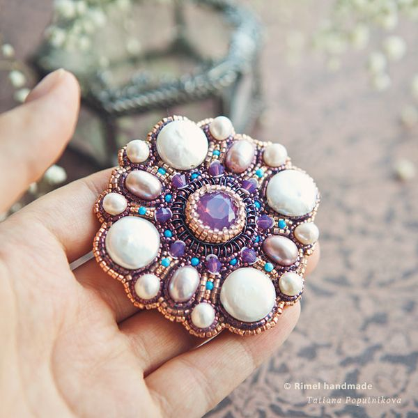 "PRODUCTS :: JEWELRY :: WOMEN :: Brooches :: Brooch ""Layla"""