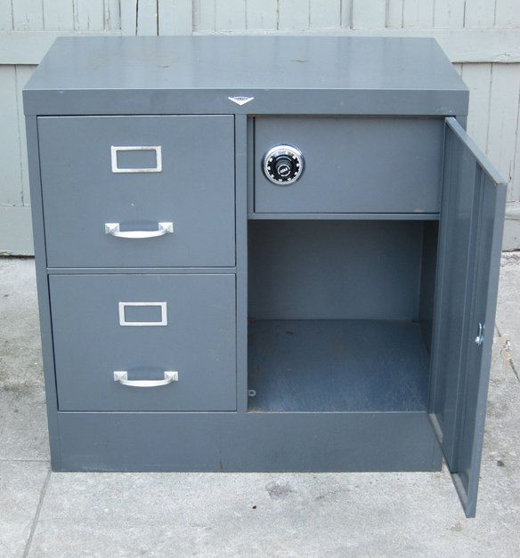 1950 S Cole Steel File Cabinet With Safe Posts Steel