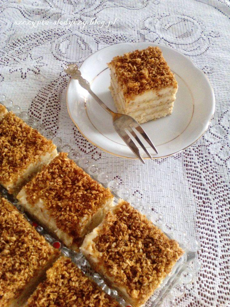 Ciasto rafaello na krakersach (bez pieczenia, bez jajek) PRZEPIS