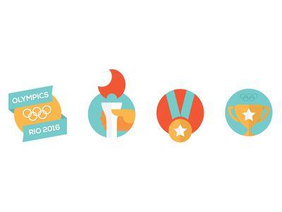 Flat Icons / Flat Design / Icons / Olympics Icons / Olympics