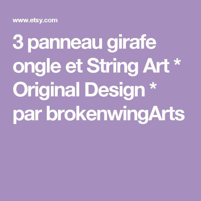 3 panneau girafe ongle et String Art * Original Design * par brokenwingArts
