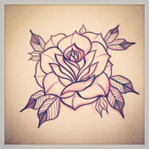 neo traditional flower - Google Search