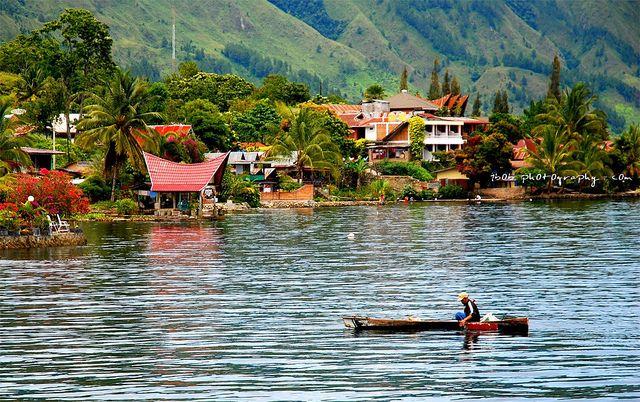 LANDSCAPE - Toba Lake at Medan, Indonesia