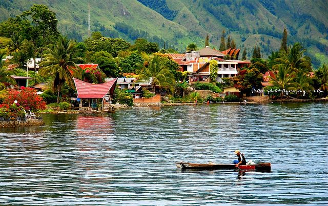 LANDSCAPE - Toba Lake at Medan, Indonesia