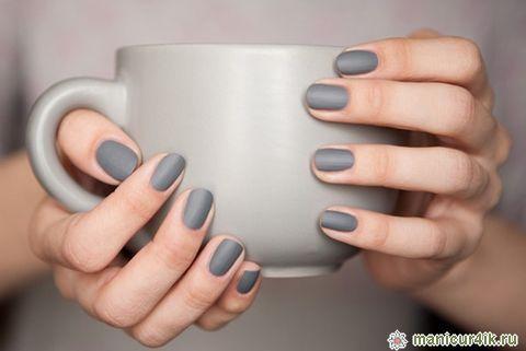 manicure black pedicure grey - Google Search