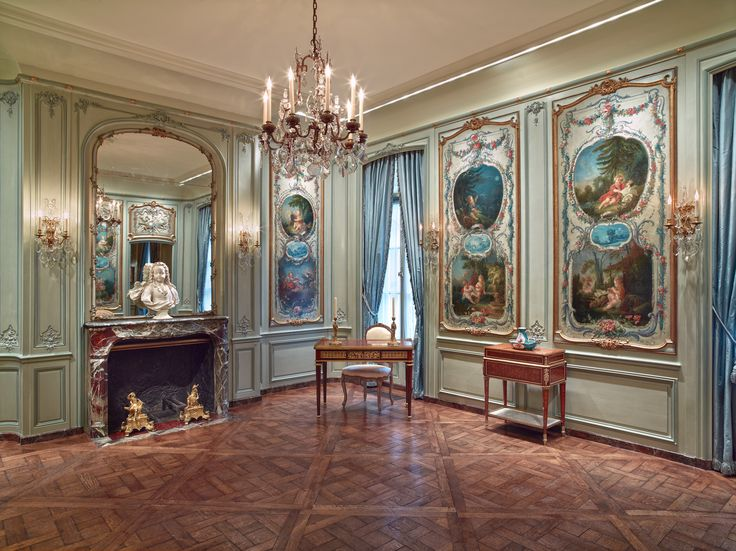 Frick Museum, Boucher Room as painted by Pierre Finkelstein on Grand Illusions