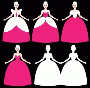 Princess cut files & digis  