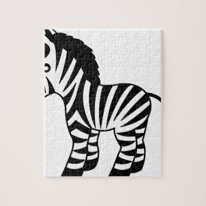 zebra kids jigsaw puzzle - baby gifts giftidea diy unique cute