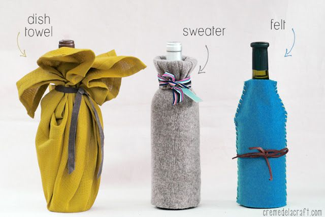 DIY: Wine Bottle Wrap (3 Ways)