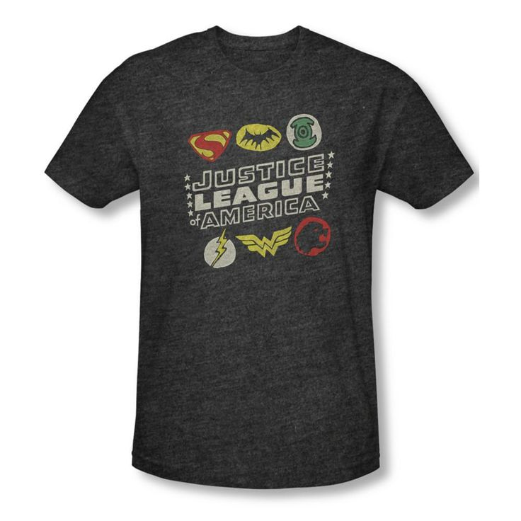 This Justice League t-shirt features a Superman Batman Green Lantern Wonder Woman Flash and Hawkman logo. This premium t-shirt is…