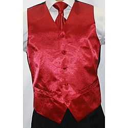 @Overstock.com.com.com - Ferrecci Men's Shiny Burgundy Microfiber 3-piece Vest - You'll stand out in the crowd when you wear this men's red suit vest. The five-button vest features a shimmering, vibrant burgundy cArent you playing that a little too close to the vest?  http://www.overstock.com/Clothing-Shoes/Ferrecci-Mens-Shiny-Burgundy-Microfiber-3-piece-Vest/6511221/product.html?CID=214117 $30.99