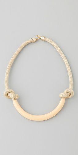 Knots: The Knot, Jaclyn Mayer, Necco Enamels, Ropes Necklaces, Enamels Ropes, Mayer Necco, Genger, Gold Necklaces, Vintage Necklaces