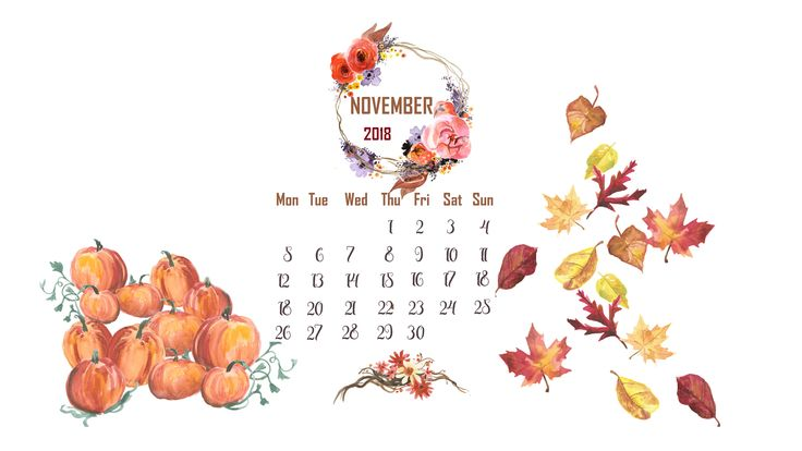 November 2018 Desktop Calendar Wallpaper Desktop