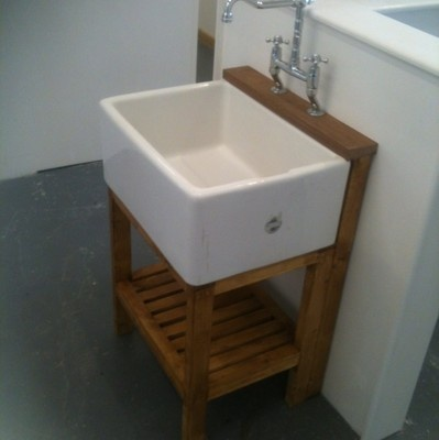 BELFAST SINK  PINE STAND  WASTE  TAP COMPLETE SET ONLY