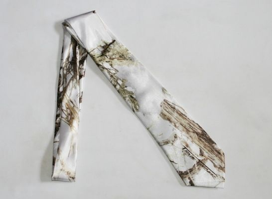 "True TImber ""White MC2"" Camouflage Ties - Camo Wedding Tie - $29.95"