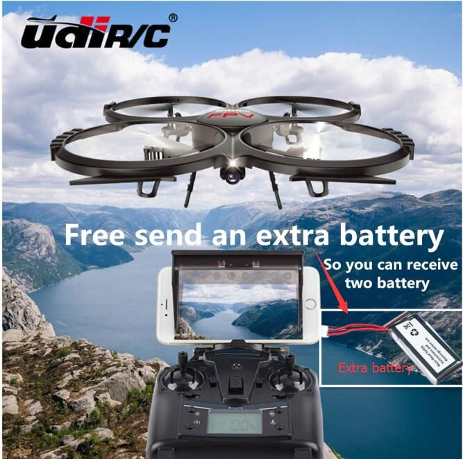 An extra battery Wifi FPV rc drone UDI U818a U919A upgrade version Remote Control Helicopter Quadcopter 6Axis Gyro attitude hode