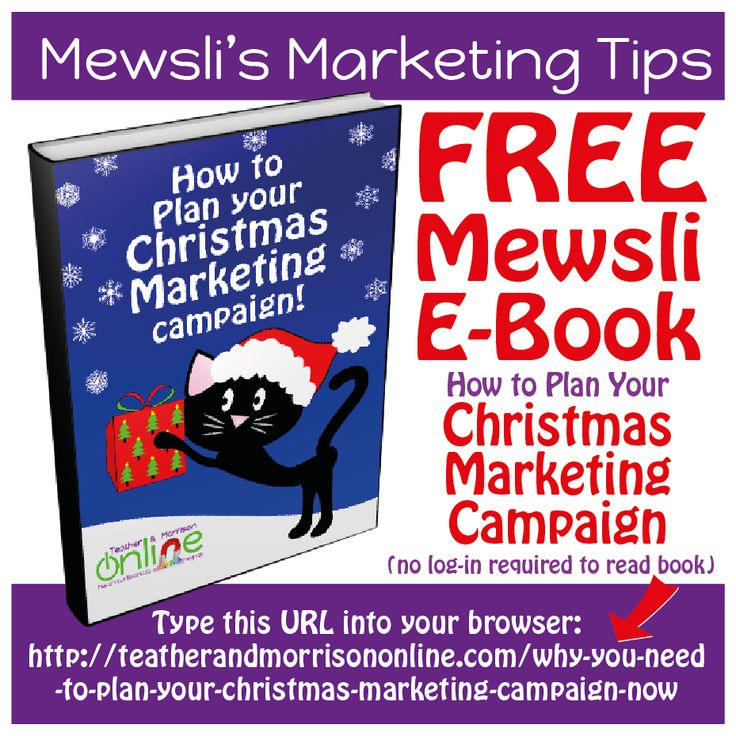 Have You started planning for Christmas? Here is Mewsli's FREE guide 'How to Plan Your Christmas Marketing Campaign' - no login required to read the book, and FREE downloadable Christmas graphics at the end! Here's the link: http://teatherandmorrisononline.com/why-you-need-to-plan-yo… #ChristmasMarketing #XmasMarketing #Marketing #Entrepreneur #Smallbusiness #Mewsli