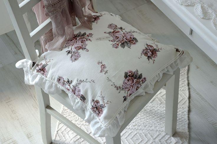 kissen stuhlkissen r schenkissen zierkissen rosen sitzkissen shabby landhaus in m bel wohnen. Black Bedroom Furniture Sets. Home Design Ideas