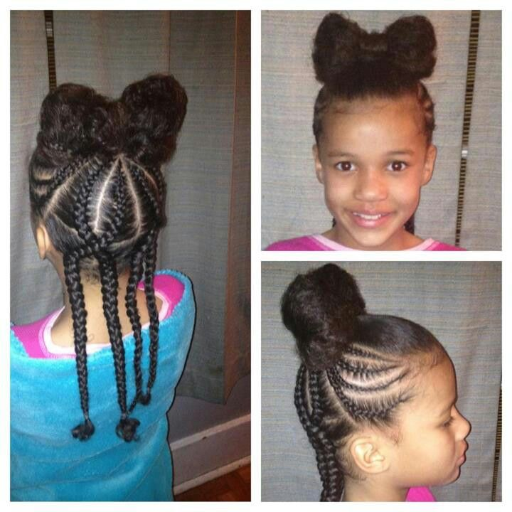 Fantastic 1000 Images About Natural Kids Hair Bow Styles On Pinterest Short Hairstyles For Black Women Fulllsitofus