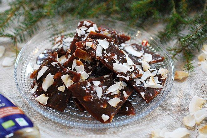 Kokosknäck-bräck med flingsalt