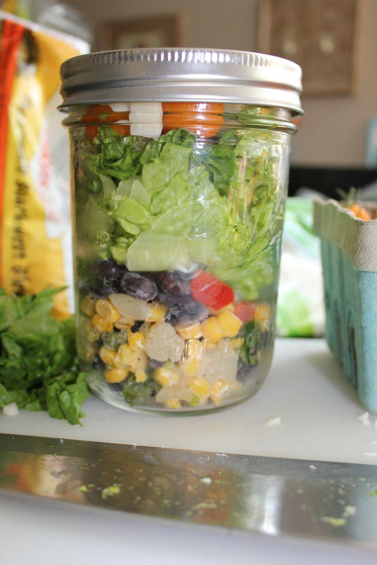 Layered Tex Mex Salad - Joyful Mom | Tuesday Greens | Pinterest