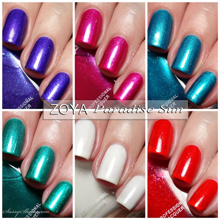 Zoya Paradise Sun Collection - summer 2015 - swatches and review by Sassy Shelly