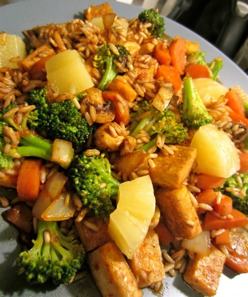 The Lazy Cook, Really Simple Vegetarian Stir Fry (I don't want to use any soy products except fermented ones, so I would use either just veggies or seiten.)