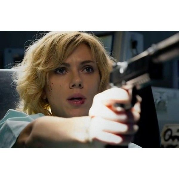 Lucy Movie Trailer Starring Scarlett Johansson As Telekinetic... ❤ liked on Polyvore featuring blonde