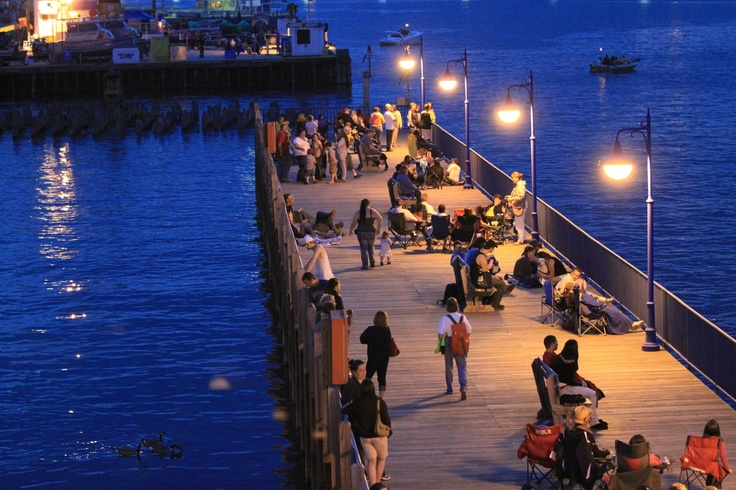 If you're in Sault Ste Marie, MI for the 4th of July, the George Kemp Downtown Marina is a wonderful place to relax and watch the beauty unfold.
