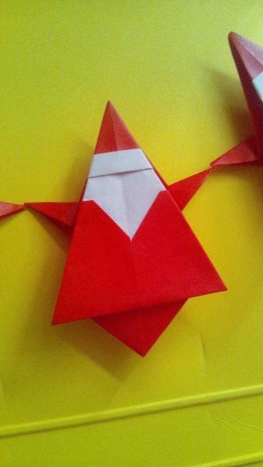 折り紙 サンタクロース Origami Santaclaus