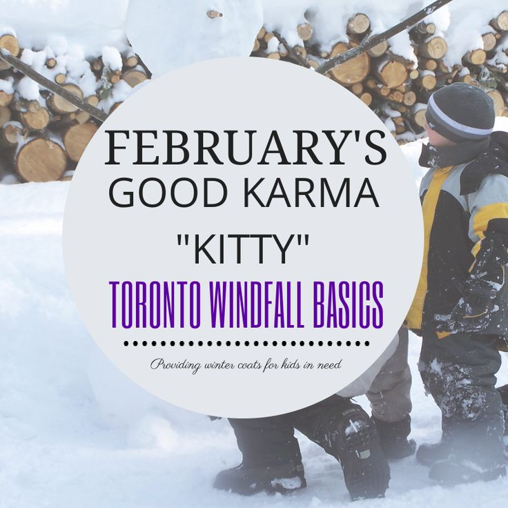 "our February Good Karma ""Kitty"" was donated to Windfall Basics, a charity that provides clothing to those in need. We specifically supported the children's winter jacket program. Temperatures in Toronto are still well below zero. #socialgood #donation #charity #charitable #encircled"