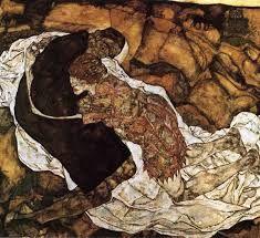 Egon Schiele, La morte e la fanciulla, 1915-1916, olio su tela, Österreichische Galerie, Vienna.