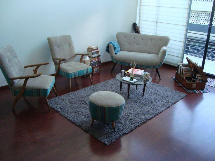 Living...sillones restaurados y retapizados...