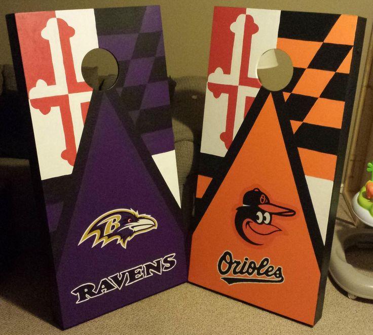 Redditing | New Baltimore Ravens / Orioles Cornhole Set by XOpelX