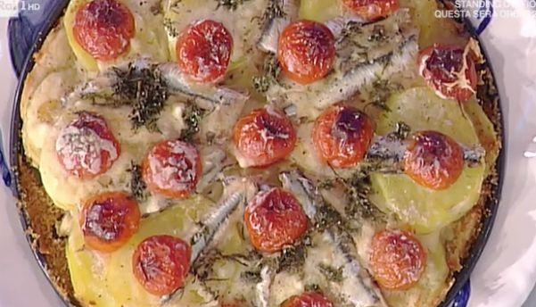 La ricetta della torta di alici pastellate e patate di Anna Moroni tra le ricette La prova del cuoco di oggi 24 febbraio 2017