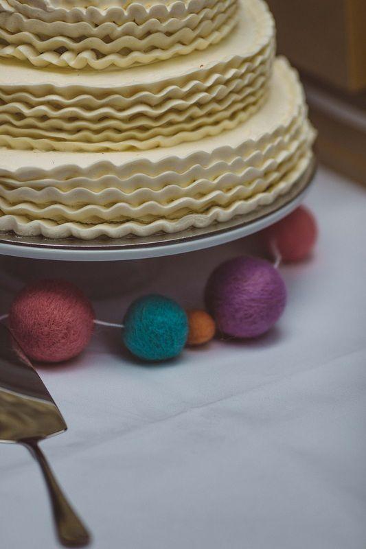 Simple whimsical wedding ruffle layer cake,  Melbourne Wedding #wedding #cake #ruffles
