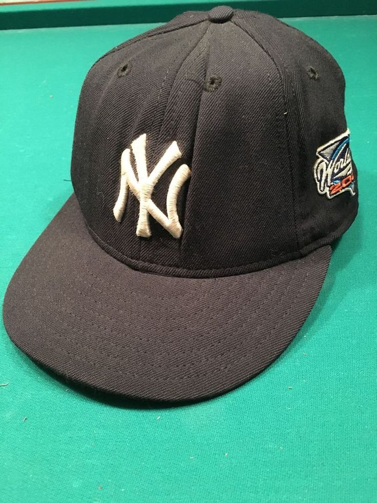 NY Yankees New Era 59Fifty Fitted Cap 2000 World Series Size 7 100% Wool USA #NewEra #NewYorkYankees