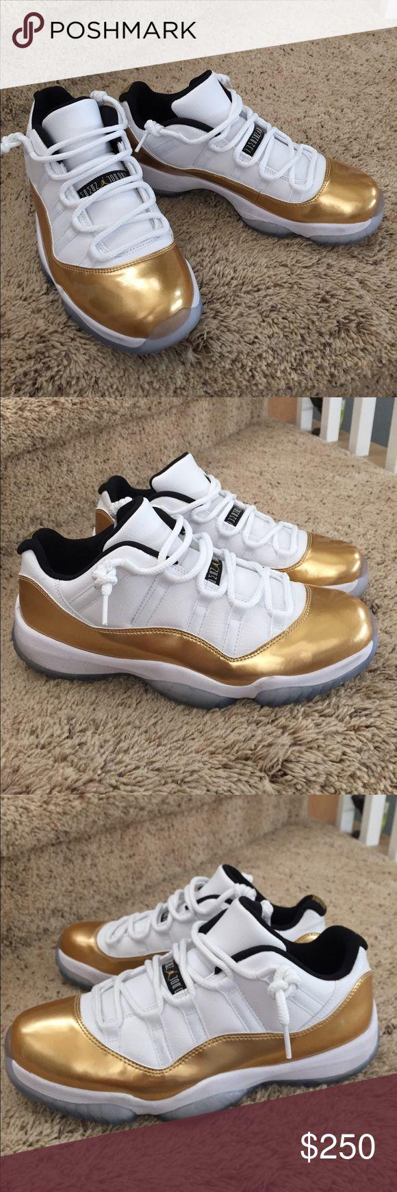 Men's Jordan Retro Closing Ceremony Gold/White Excellent condition. Authentic. Jordan Shoes Athletic Shoes