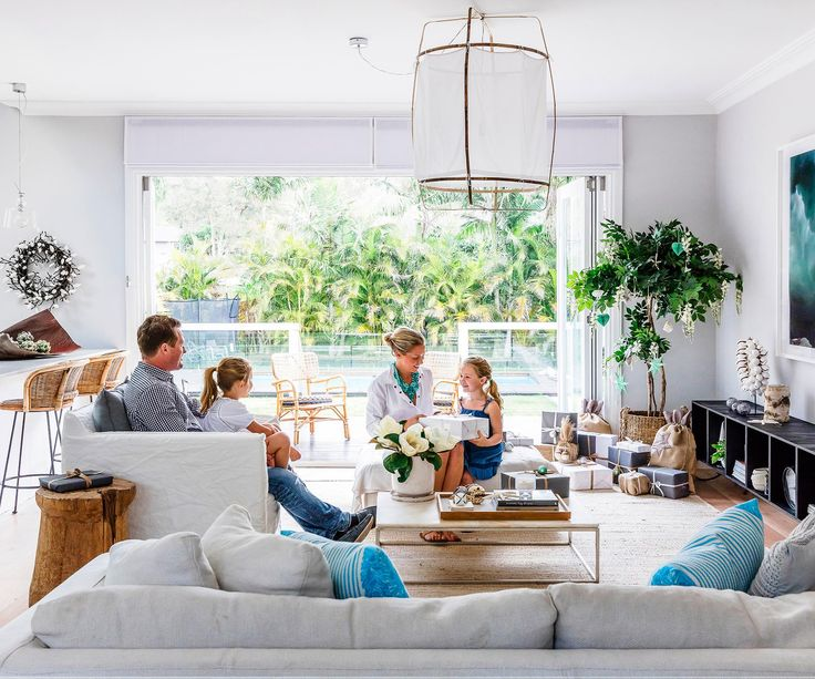 Taking inspiration from the tropical surroundings of their new beachside abode, this family has created a home designed to make relaxing easy.