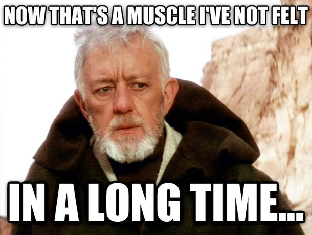 Possibly my favorite fitness meme of all time!!  #starwarsnerd #fitnessfunny