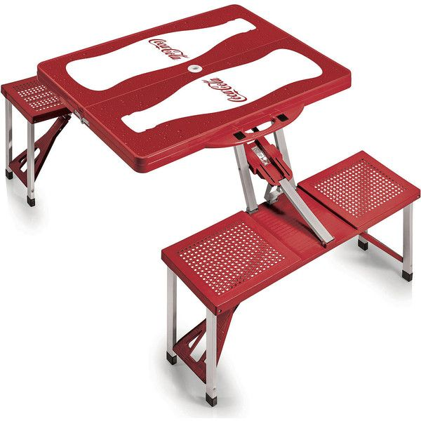 Coca Cola Picnic Table ($140) ❤ Liked On Polyvore Featuring Home, Outdoors