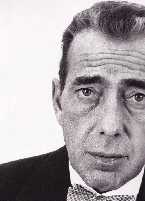 Humphrey Bogart, 1953, photo by Richard Avedon. Love the bow tie.