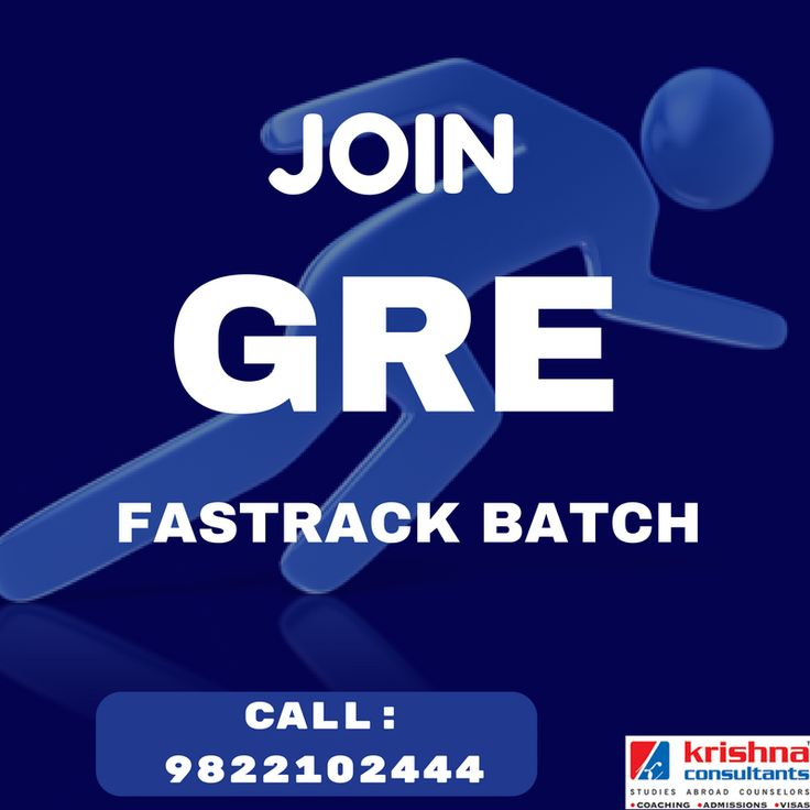 Join GRE Fastrack batch at Krishna Consultants.